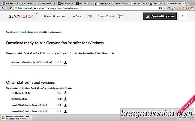 Genymotion ist ein schneller, virtuellerBox-basierter