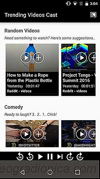 Agregue un canal de videos de tendencia a Chromecast [Android]