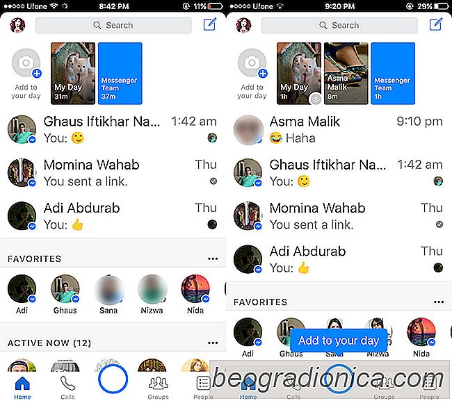 Come condividere una storia di Facebook Messenger Day