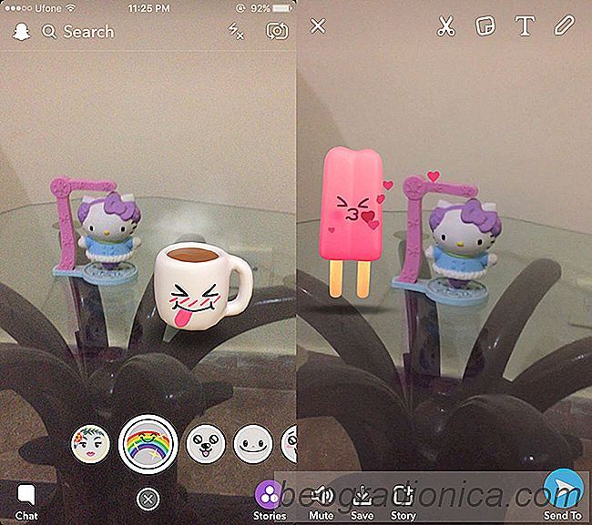 Como usar as Lentes 3D do mundo No Snapchat