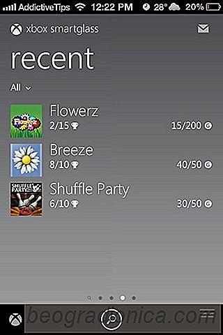 Xbox SmartGlass apporte la gestion d'ID en direct et le