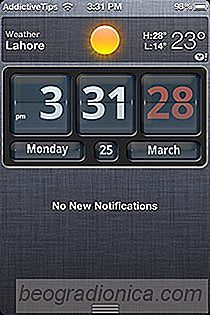 Tilføj en flip ur widget til iPhone Notification Center