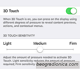 Sådan styrer du 3D Touch Sensitivity på din iPhone