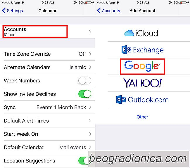 Cómo sincronizar el calendario de Google con su aplicación de calendario de iPhone