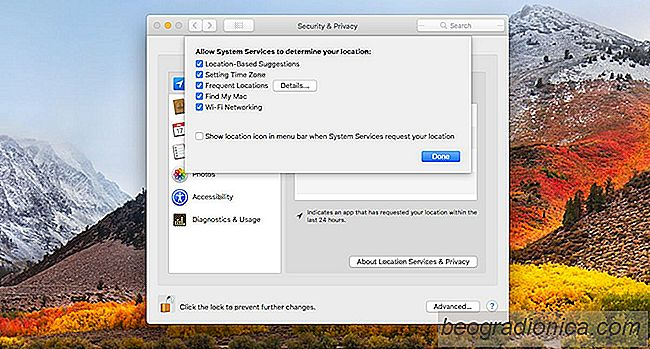 Come disabilitare posizioni significative in macOS High Sierra