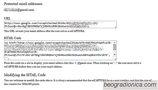 Google reCAPTCHA Mailhide cache votre email derrière CAPTCHA pour