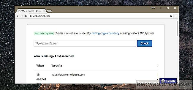 Como verificar se um site está minerando Cryptocurrency