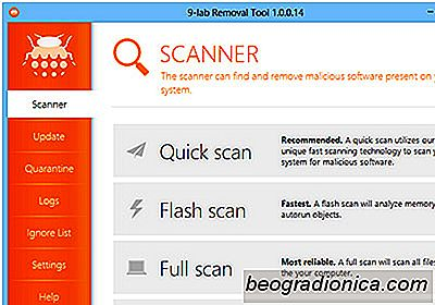 9-Lab Removal Tool är en On-Demand Virus, Rootkit & Registry Scanner