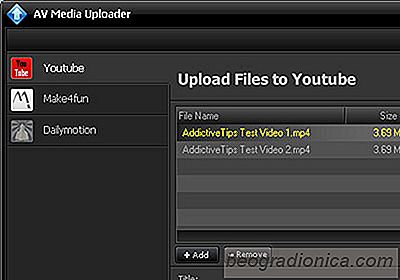Batch-upload videoer til YouTube og Dailymotion med AV Media Uploader