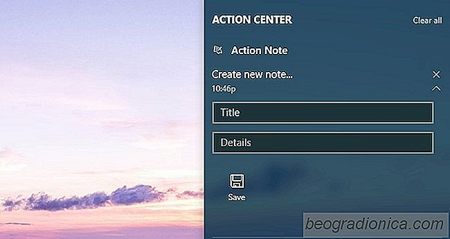 Notities maken vanuit het Action Center in Windows 10