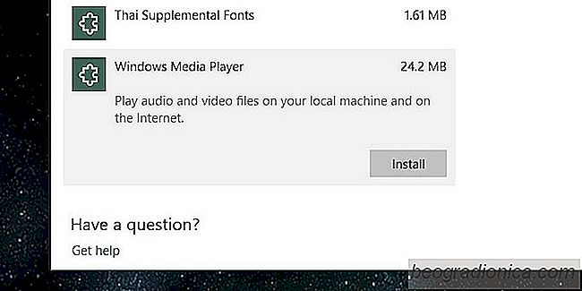 Comment obtenir Windows Media Player à l'automne Creators Update - Windows 10