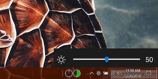 Come aggiungere un cursore Luminosità in Windows 10